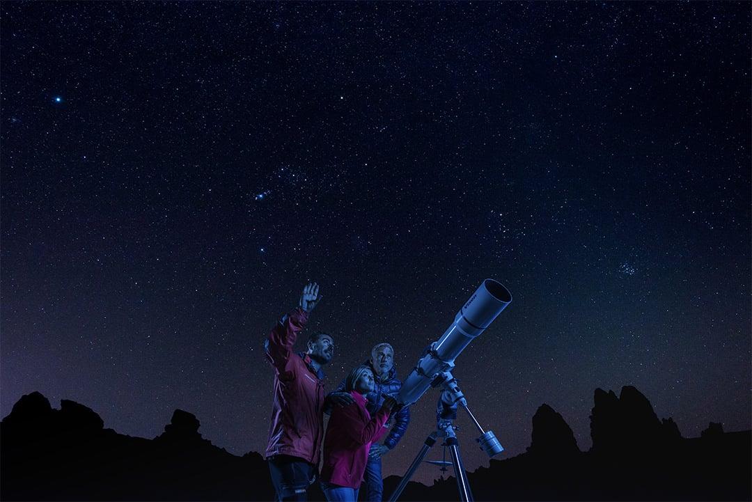 Romantische Nacht auf Teneriffa: Astronomische Himmelsbetrachtung auf dem Teide