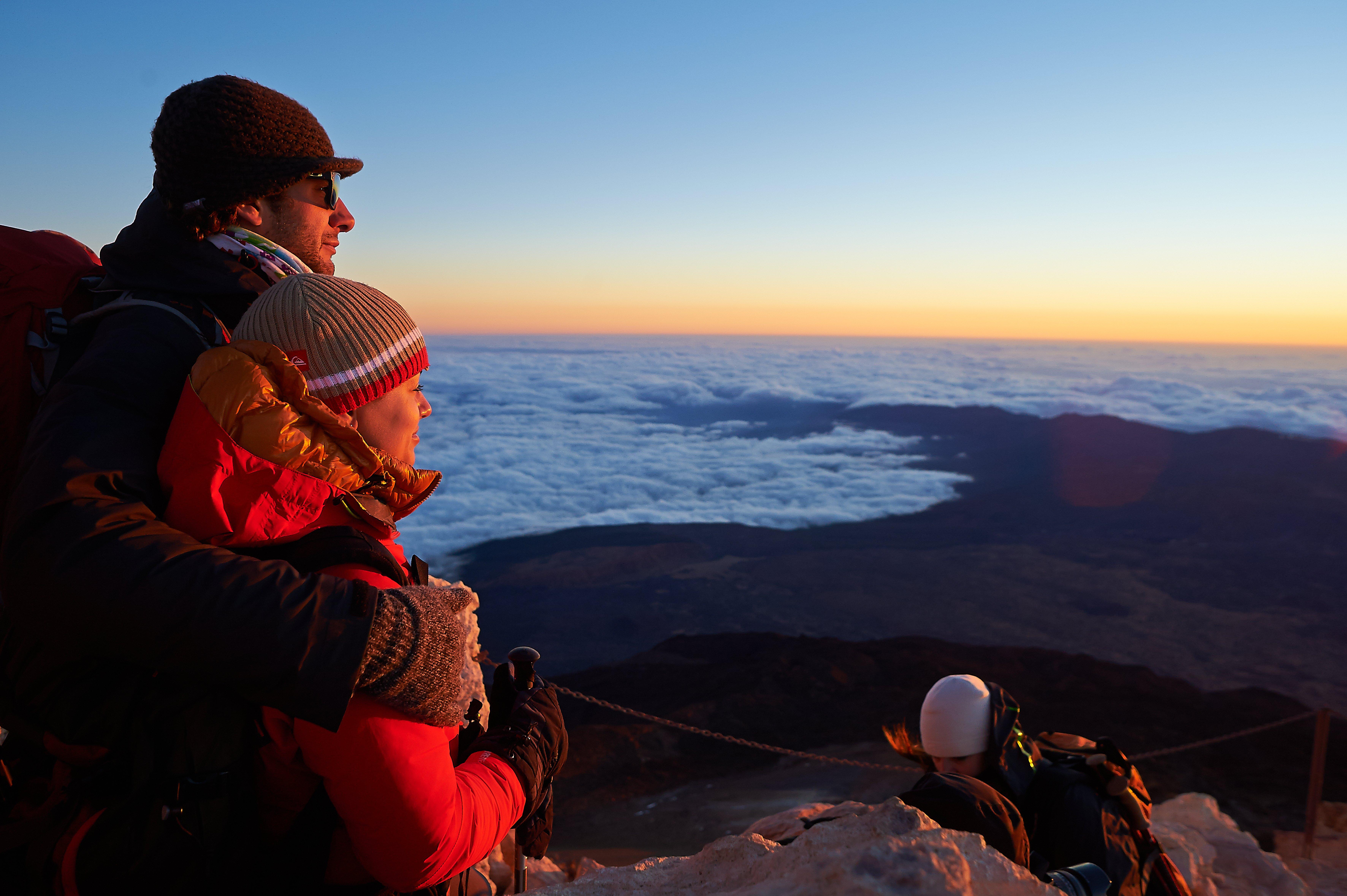 Ascending the Peak of Teide on foot