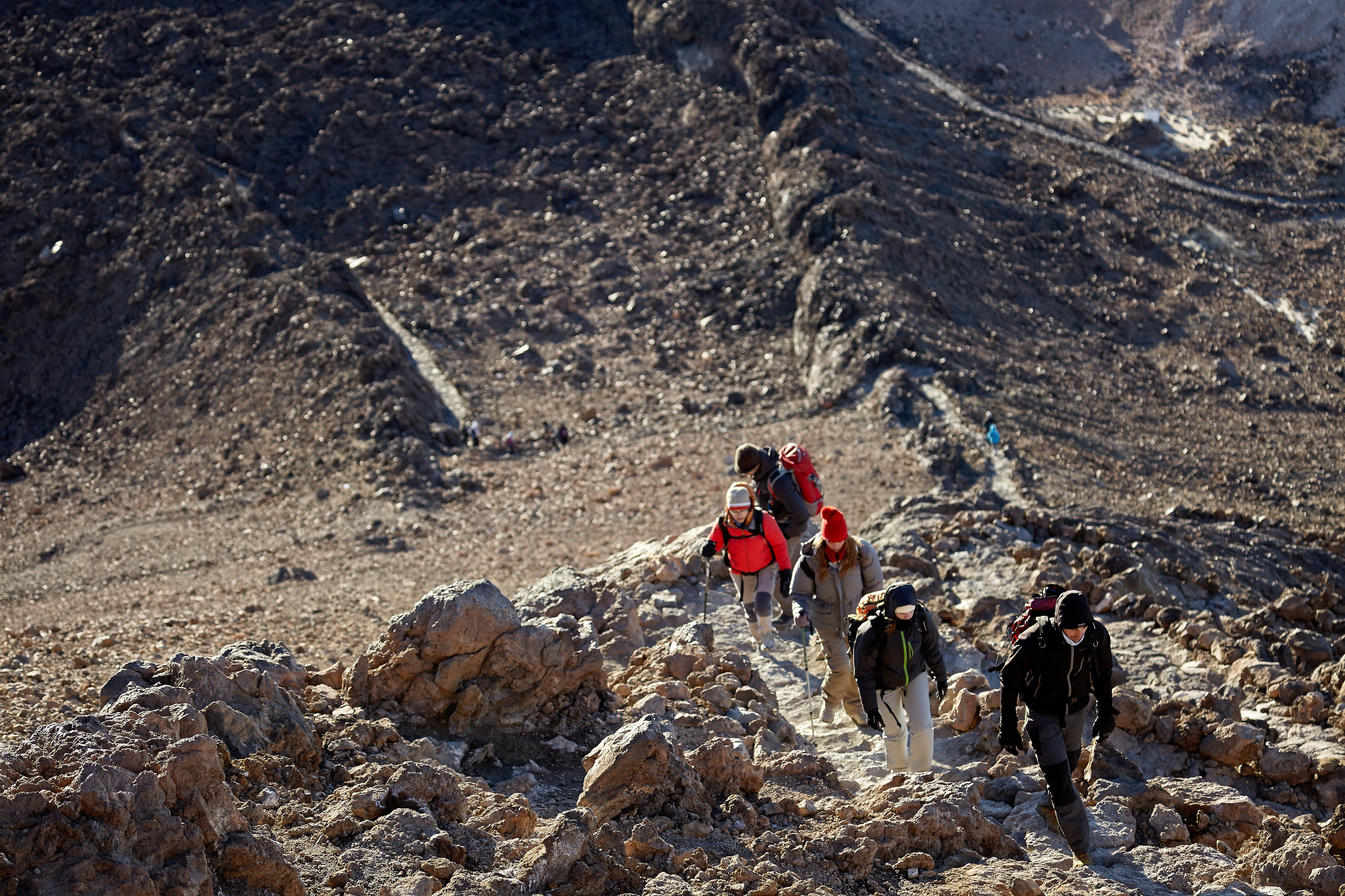 Subir al Teide a pie - Refugio de Altavista