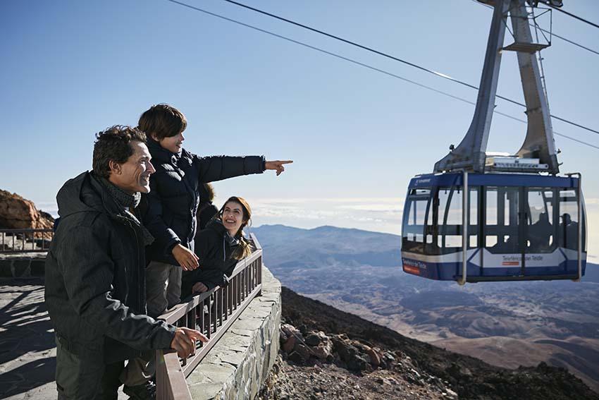 Excursie Teide met kinderen met tickets voor de Kabelbaan