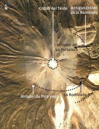 Verplichte halte op de wandelroute naar Pico Viejo op de Teide