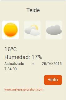 Hoe weet ik of de Kabelbaan de Teide open is: temperatuur