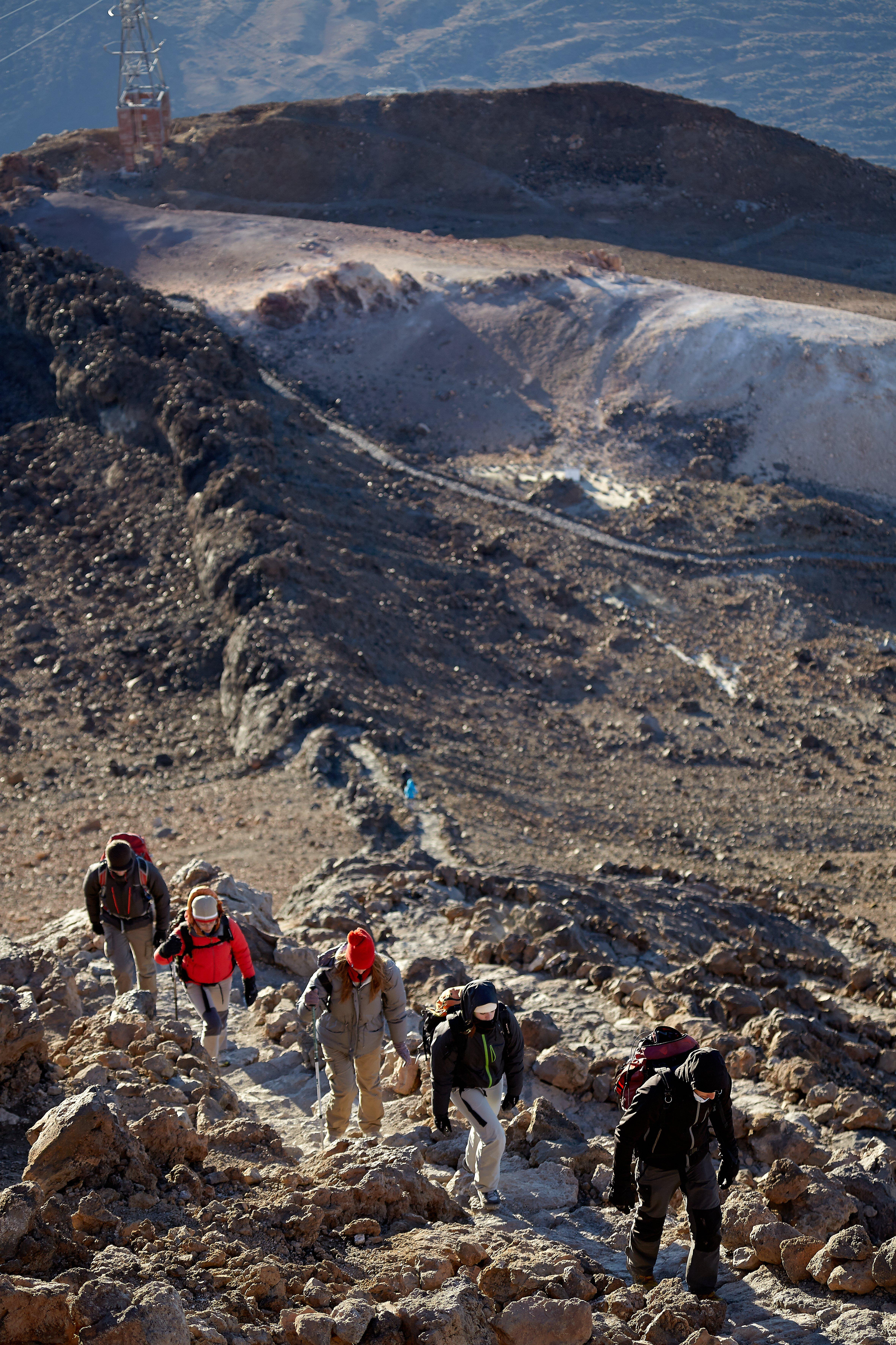 Aufstieg zu Fuß über Montaña Blanca auf den Teide