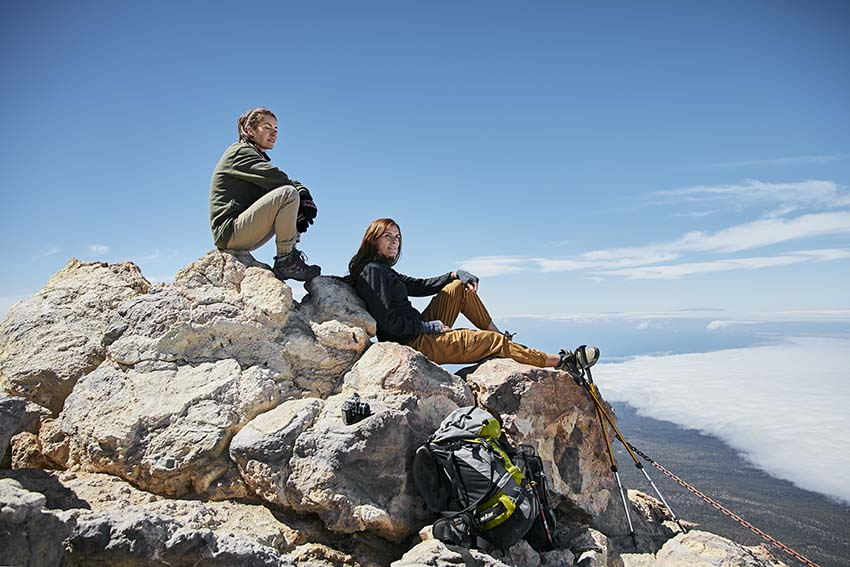 Climbing Mount Teide: hikers at the summit