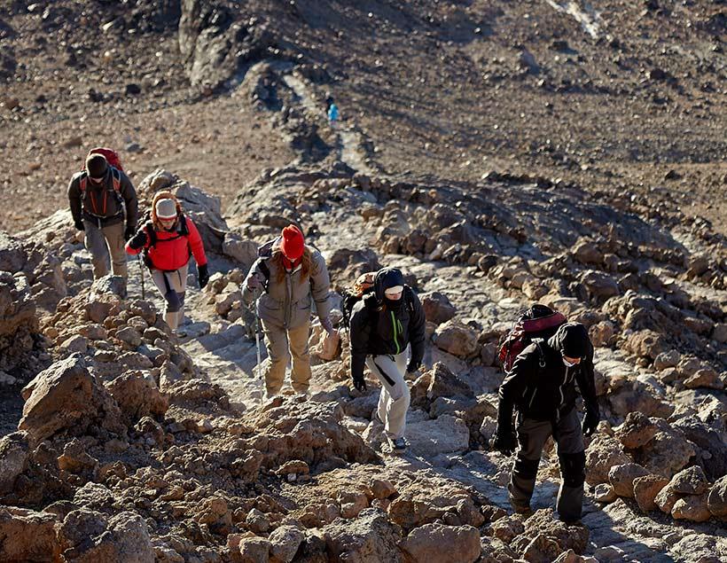 El Teide beklimmen langs het wandelpad van Montaña Blanca, Tenerife