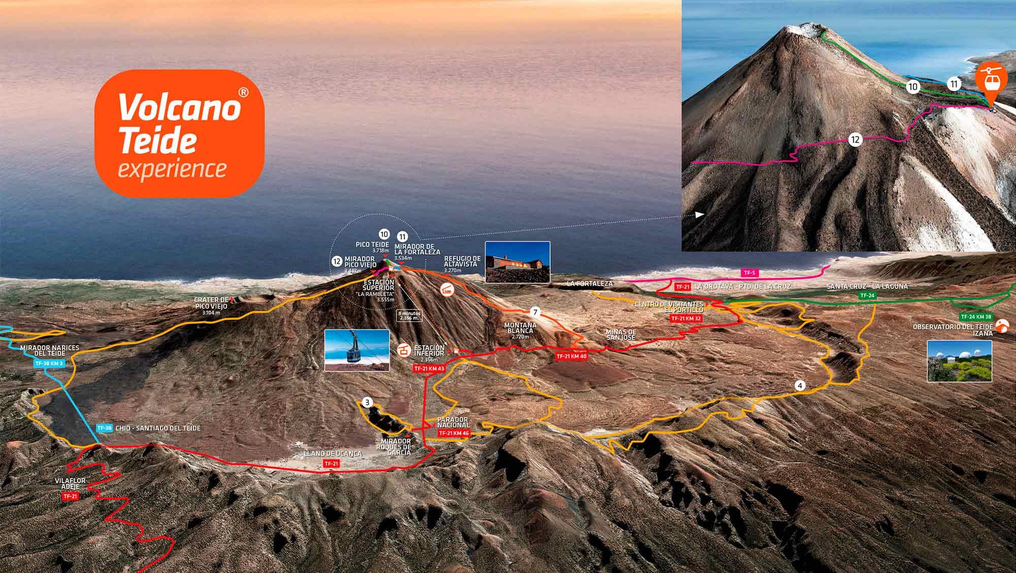 Wejście na Teide pieszo szlakiem Montaña Blanca