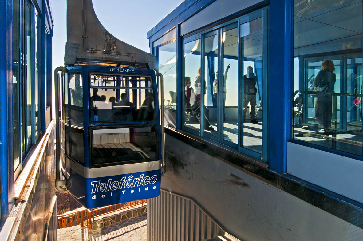 Godziny kursowania Kolejki linowej na Teide w październiku