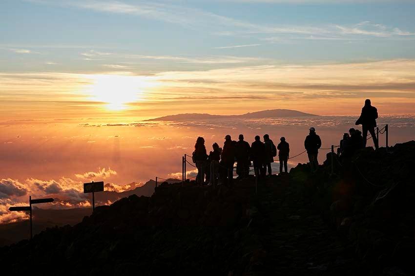 Atardecer visto desde las laderas del Teide