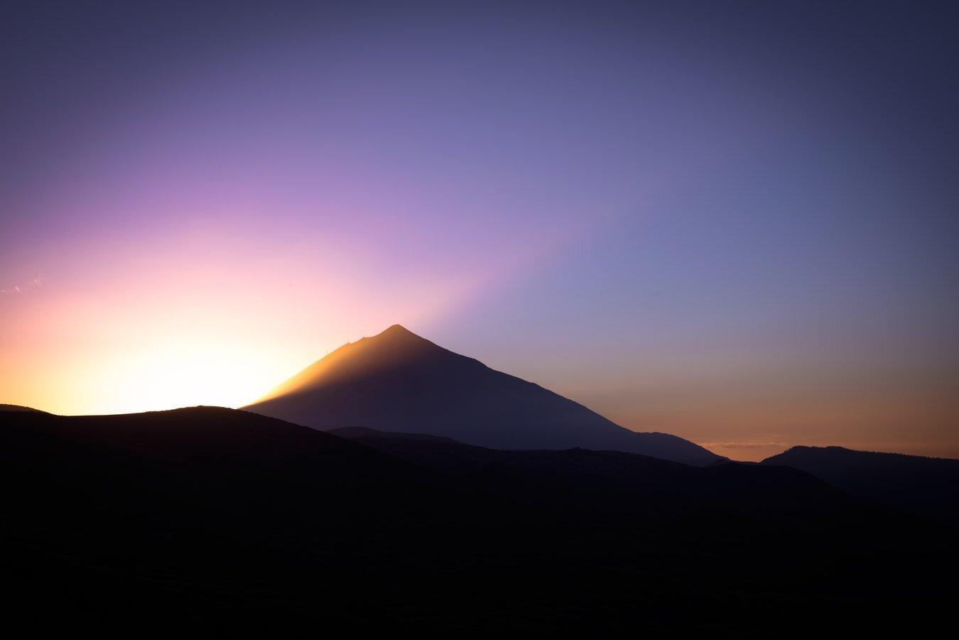 Cielo despejado en el Parque Nacional del Teide