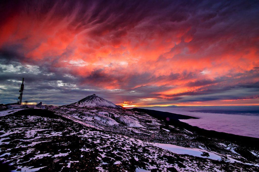 Teide Lab capta el Parque Nacional del Teide nevado