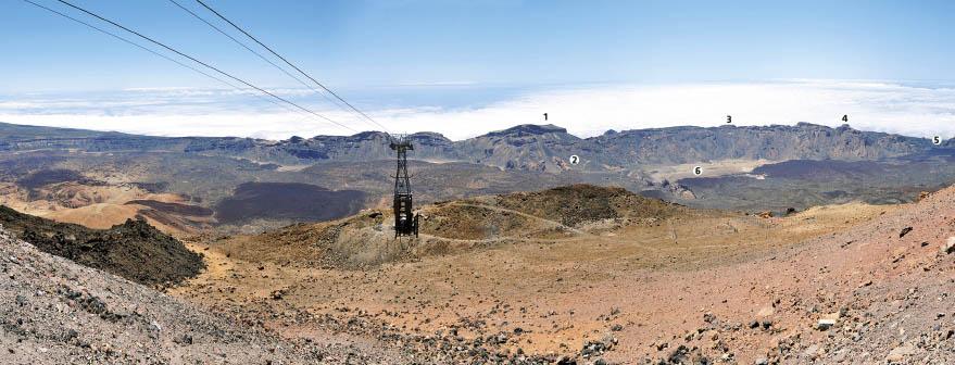 Viste dal belvedere di Pico Viejo sul Teide