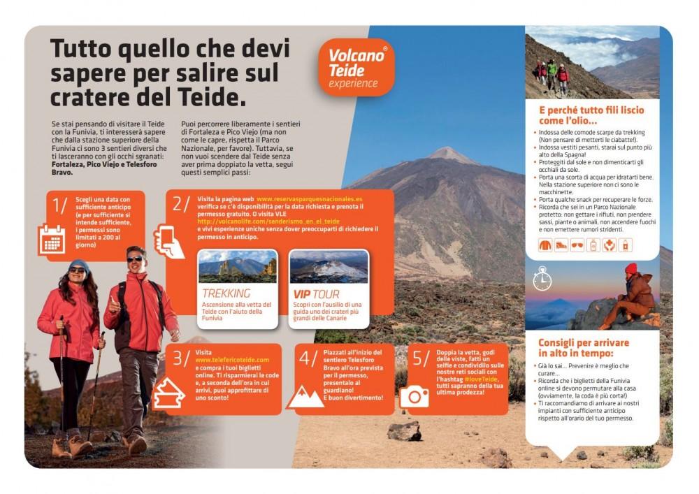 Come salire sul cratere del Teide passo per passo