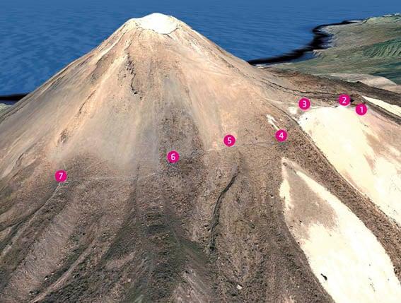 Voici le sentier du Teide au Pico Viejo