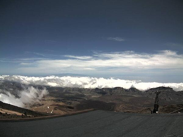 How to check if the Teide Cable Car is open - National Park webcam