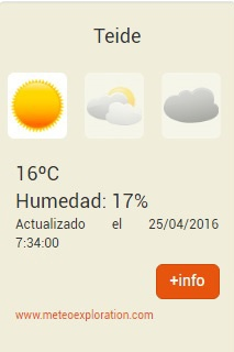 How to check if the Teide Cable Car is running: temperature