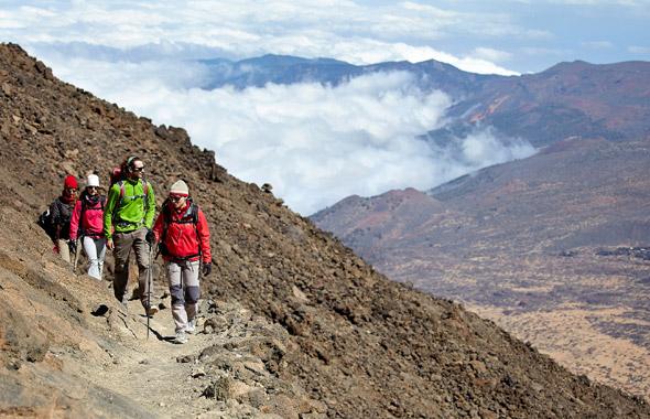 Camminare fino alla vetta del Teide