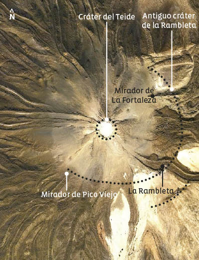 Obligatorische Stationen auf dem Wanderweg zum Pico Viejo des Teide