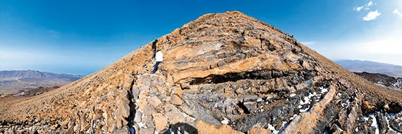 Weg zum Krater des Teide: Aussichtspunkt des Kanals