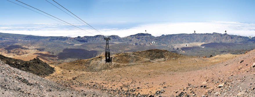 Views from the Pico Viejo viewpoint on Teide