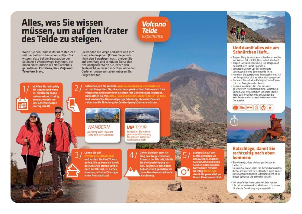 Was muss man im Einzelnen tun, um den Krater des Teide zu besteigen