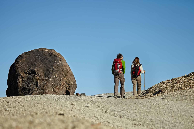 Beklim de Teide langs de Montaña Blanca route